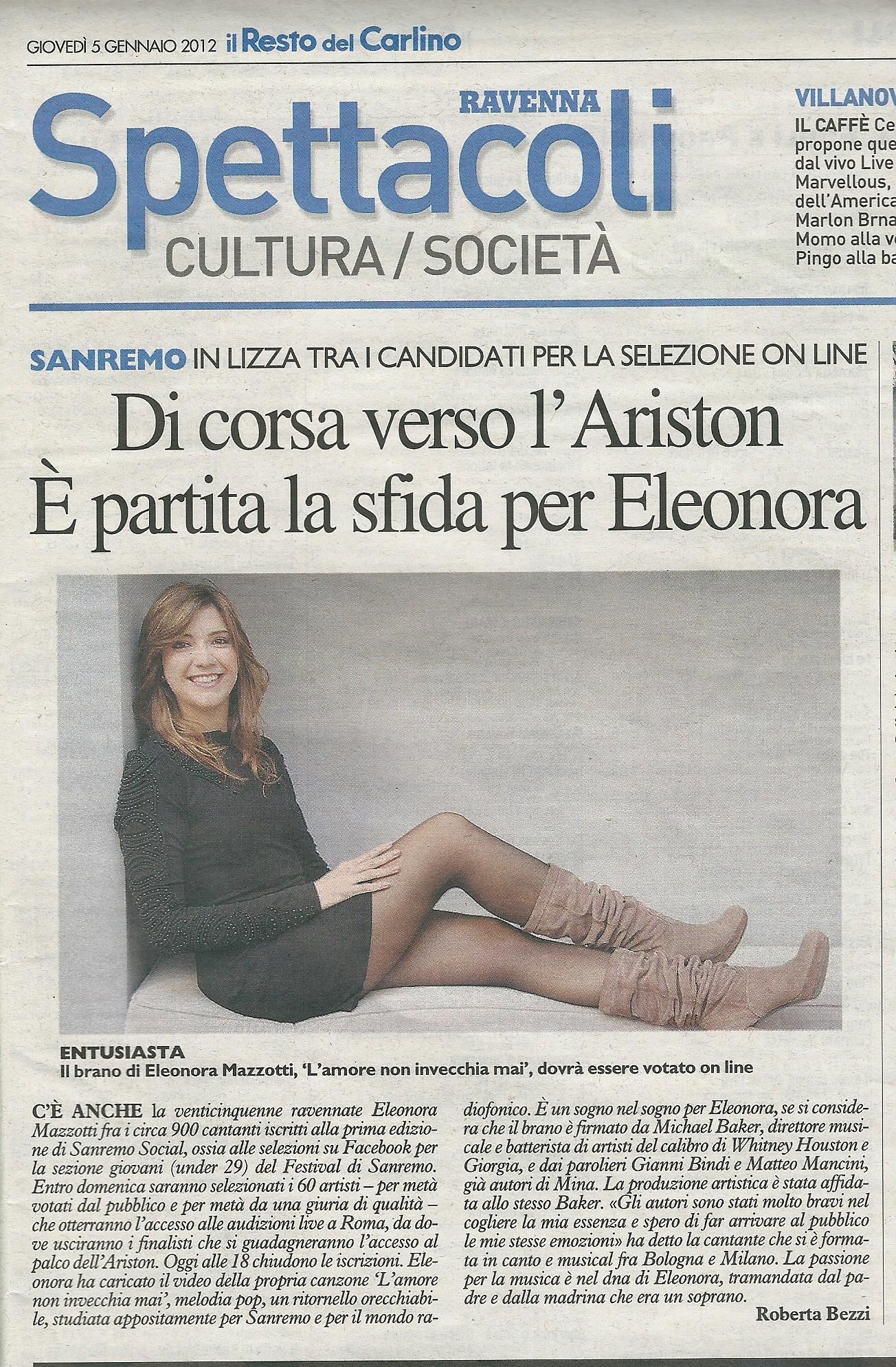 Il Resto del Carlino, Ravenna, 5-1-2012