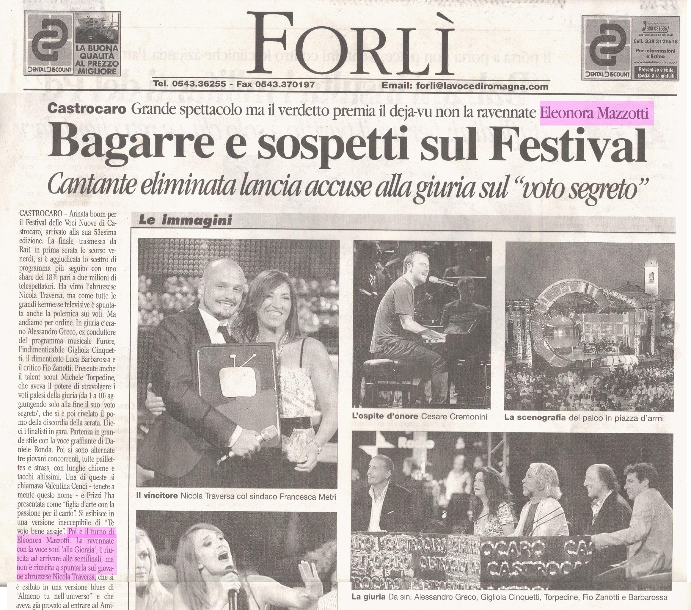 La Voce di Romagna, Fc, 18_07_2010 pag 1