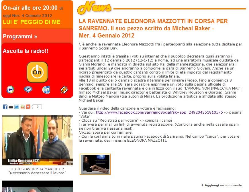 Radio scintilla, 4-1-2012