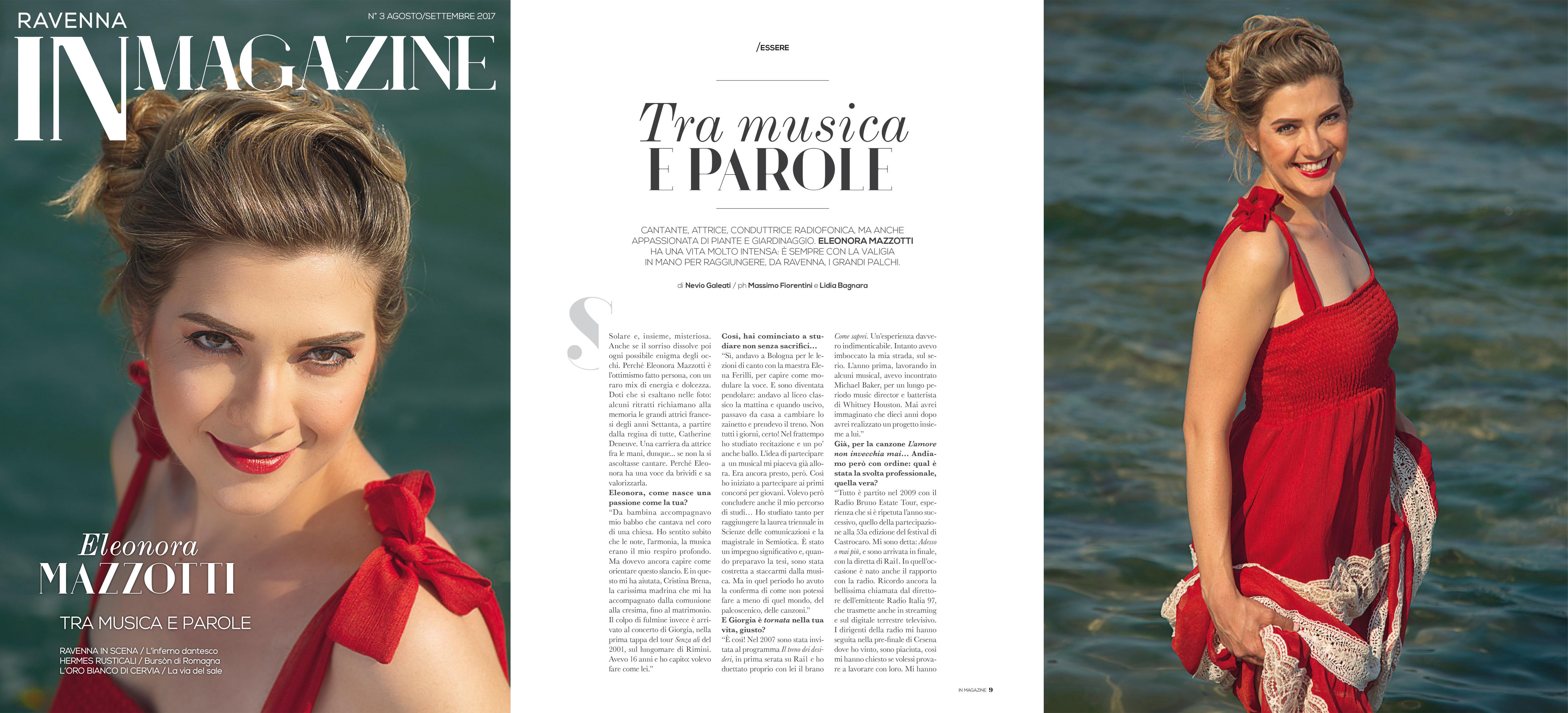 Copertina e articolo In Magazine , 2017